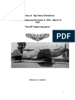 Diary - Sgt 68th Fighter Sqd - Guadalcanal