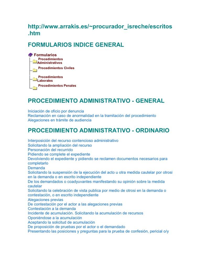 Formularios de Modelos de Demandas