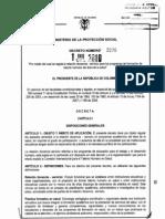 Decreto 2376 de 2010 - Reg Lament A Docencia en Salud