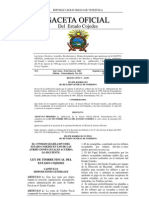 Ley de Timbre Fiscal Del Estado Cojedes