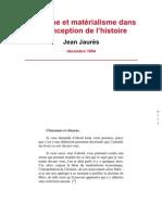 Idéalisme et matérialisme :Jean Jaurès