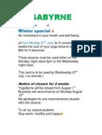 YogaByrne - Yoga Perth