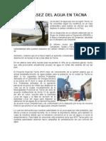 La Escasez Del Agua en Tacna