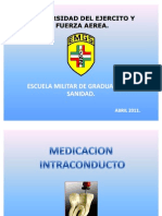 MEDICACION INTRACONDUCTO