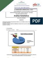 Questionário EFA A (Grupo Luana) - Análise Estatística