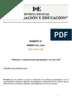 Nivel Infantil Titulo Informe y Evaluacion Psicopedagogica Un Caso Real Autora Rosa Perez Grau