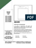 Dishwasher Parts Book