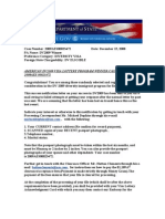 DV2009 Notification Letter