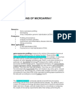 Applications of Micro Array