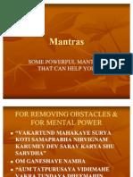 Remedies Thru Mantras