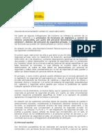 Informe sobre prestación de funciones de vigilancia y control en Centros comerciales por auxiliares de servicio
