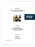 Product & Brand Management of Alcohol Indystry in India