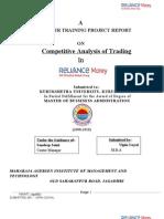 Competitve Analysis Trading in Reliance Money
