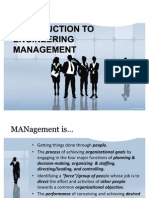 Part 1 - Intro to Engineering Management