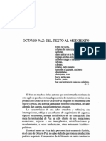 Octavio Paz Del Texto Al Metatexto
