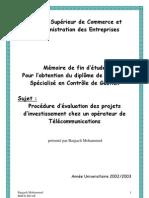 Procédure d'évaluation des projets d'investissement chez un opérateur de Télécommunications