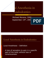 Local Anesthetics for Endodo