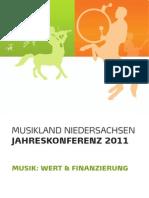 Tagungsbroschüre Jahreskonferenz Musikland Niedersachsen
