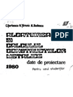 Alcatuirea Si Calculul Constructiilor Metalice - Date de Proiectare