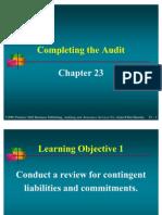 Ar23 Completing Audit