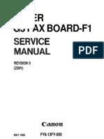 G3FAX-F1 Service Manual