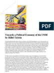 Towards a Political Economy of the USSR by Hillel Ticktin