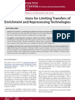 Limiting Transfers of Enrichment and Reprocessing