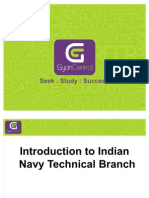 Introduction to Indian Navy Technical Branch