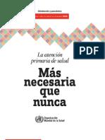 187 La Atencion Primaria de Salud Mas Necesaria Que Nunca