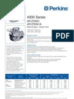 Motor Perkins 4012TAG1-1A