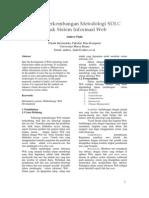 Metodologi SDLC Untuk Sistem Informasi Web