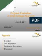 509 - Program Evaluation