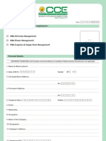 Admission Form (MBA)
