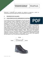 EPI - CHESF - ESPÉCIFICAÇÃO TÉCNICA DE CALÇADO DE SEGURANÇA