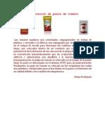 Elaboración de pasta de tomate
