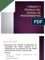 Formato y Técnicas del manual de procedimientos