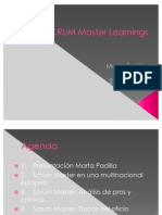 Scrum Master Learnings