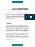 A Numerical Study On Air Squeeze-Film Damping Based On Structure-Fluid Co-Simulation Technique