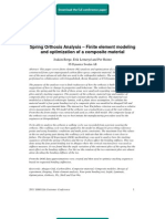 Spring Orthosis Analysis – Finite element modeling and optimization of a composite material