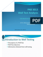 2. Introduction to Well Test
