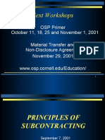 Principles of Subcontracting