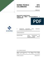 NTC 1103-3 Tomate de Mesa. Almacenamiento y Transporte