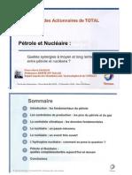 Pétrole et nucléaire, quelle synergie ? Pierre René Bauquis