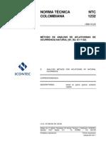 NTC 1232 Metodo de Analisis de as de Ocurrencia Natural