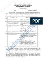 Lecturers on Contract Basis in Polytechnic 2011-12_Notification