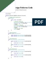 Design Patterns Code