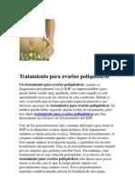 Tratamiento Para Ovarios Poliquisticos