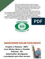 Aquecedor Solar Pet