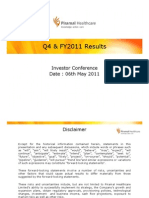 Piramal Healthcare Limited - Q4 & FY2011 Results Analyst Presentation