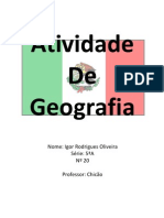 Atividade de Geografia -Igor